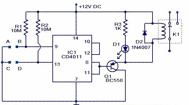 Interruptor al Tacto con CD4011
